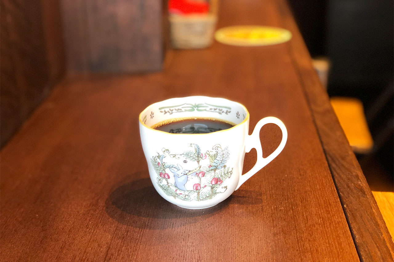 KajiCafeのコーヒーを別アングルで